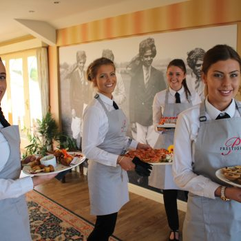 waiting staff serving finger food