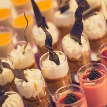 mini cheesecake and panna cotta selection