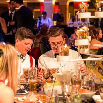 guests enjoying the food